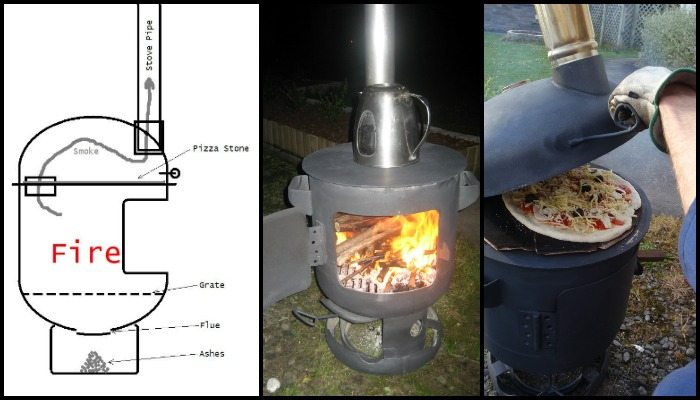 Pizza oven and patio heater combo!