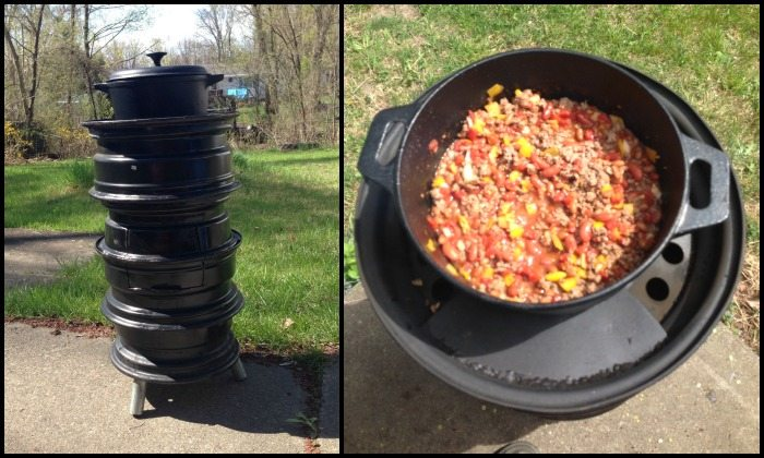 How to build a stove from recycled tire rim | DIY projects for ...