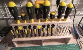How to build a screwdriver organizer