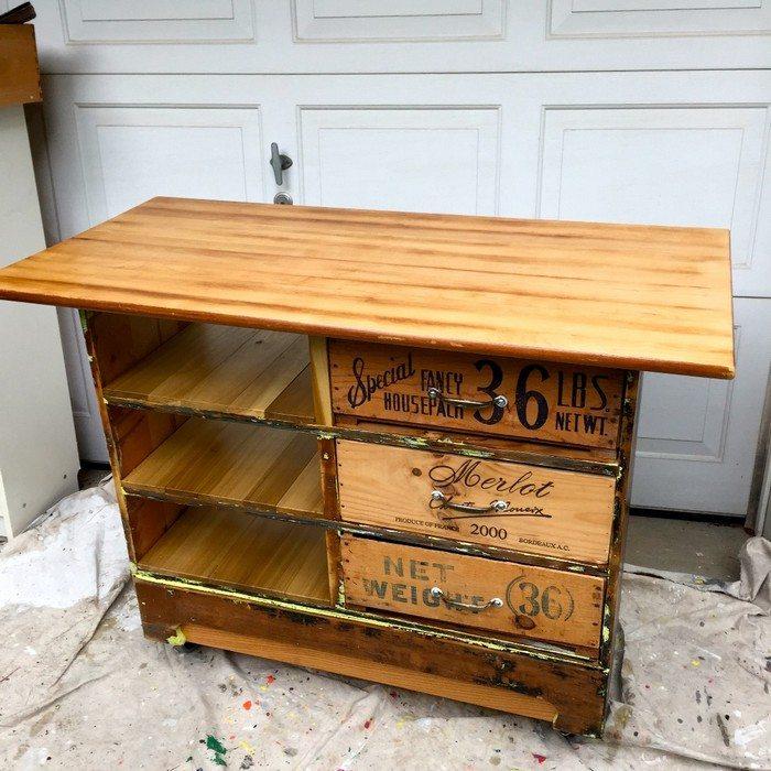 Ugly Dresser Rustic Kitchen Island Samples