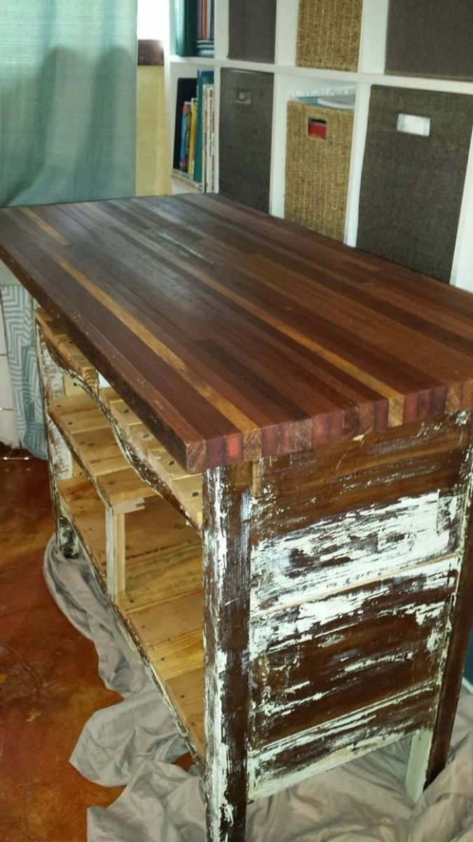 rustic diy dresser kitchen island idea | How to Turn an Ugly Dresser into a Rustic Kitchen Island ...
