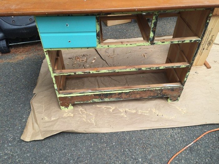 Ugly Dresser to Rustic Kitchen Island