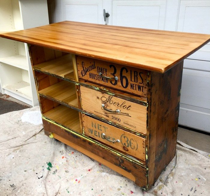 How to turn an ugly dresser into a rustic kitchen island for How to build a rustic kitchen island