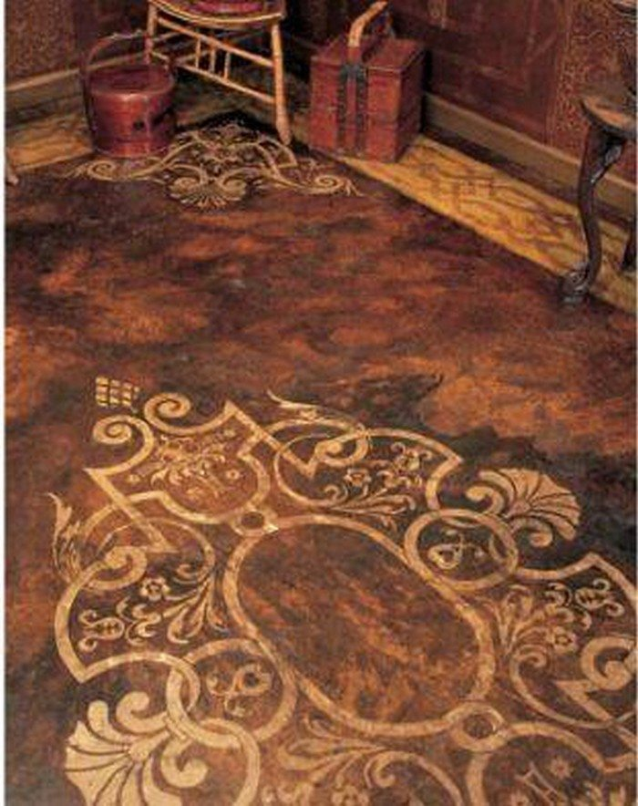 Concrete Floor Patterns : How to make brown paper bag flooring diy projects for