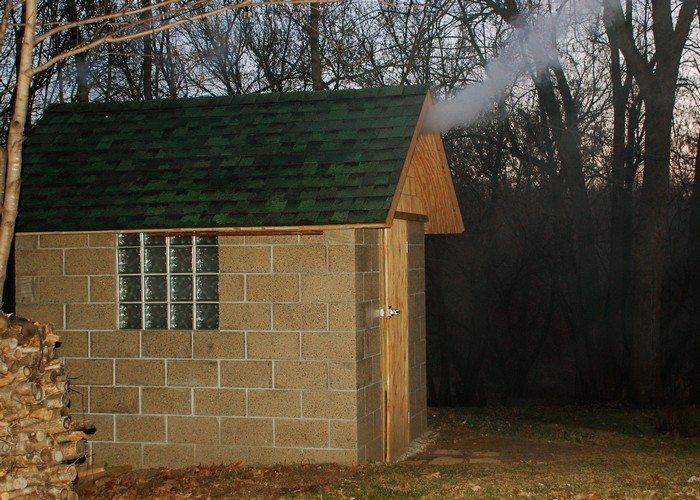 Cement Block Smokehouse