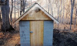 Build a smokehouse from cement blocks