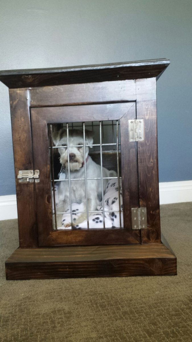 How To Build A Dog Kennel End Table Diy Projects For