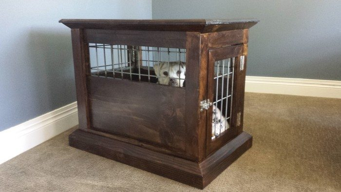 Build a dog kennel end table now by following the step-by-step ...