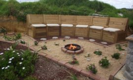 How to build a fire pit seating with storage