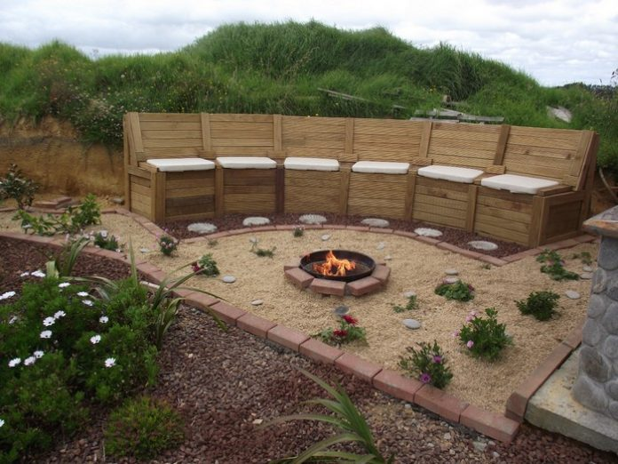 How To Build A Fire Pit Seating With Storage DIY Projects For Everyone
