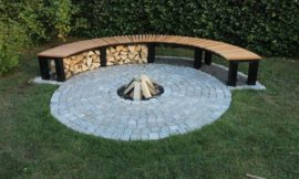 How to build a fireplace with bench