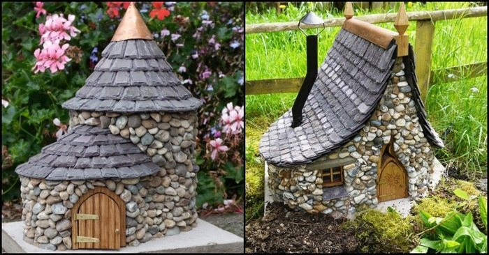 make a miniature stone fairy house diy projects for everyone. Black Bedroom Furniture Sets. Home Design Ideas
