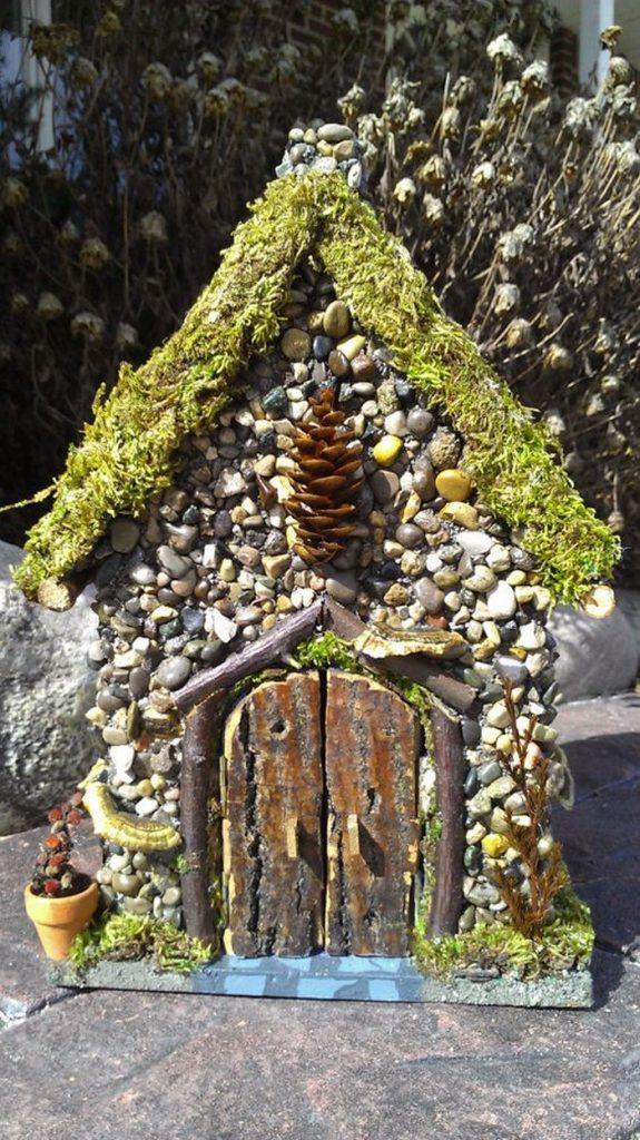 Miniature Stone Fairy House