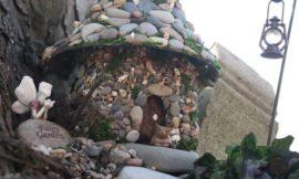 Make a miniature stone fairy house