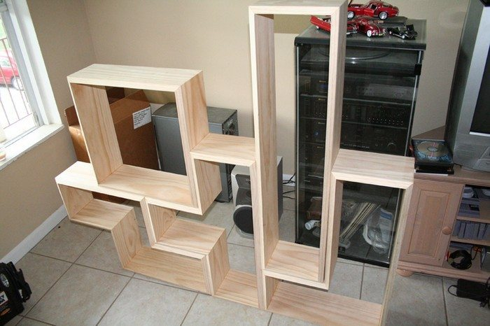 How to build a tetris bookcase