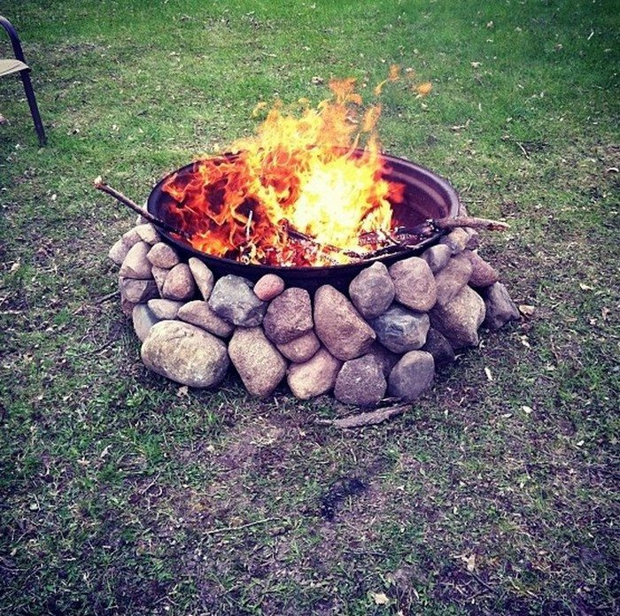 Build A Tractor Rim Fire Pit For Your Yard Diy Projects For Everyone