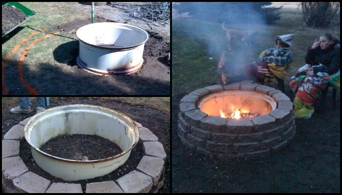 Build a tractor rim fire pit for your yard