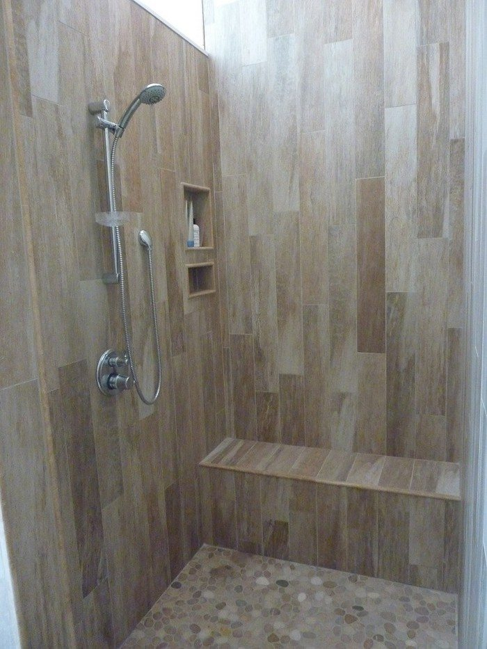 revamp your bathroom with a pebble shower floor diy projects for