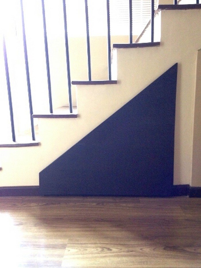 DIY Under Stairs Pull Out Storage