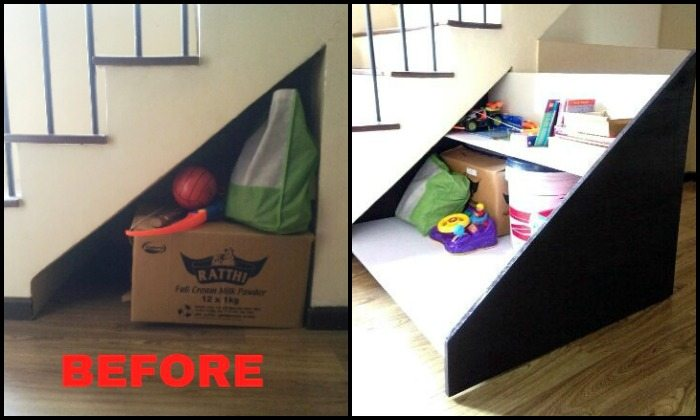 Diy Under Stairs Pullout Storage