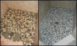 Revamp your bathroom with a pebble shower floor