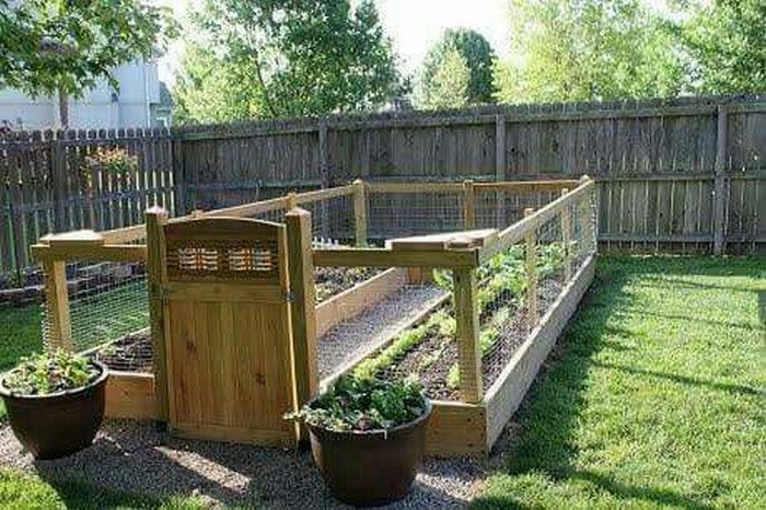 Build a raised enclosed garden bed diy projects for for Enclosed vegetable garden designs