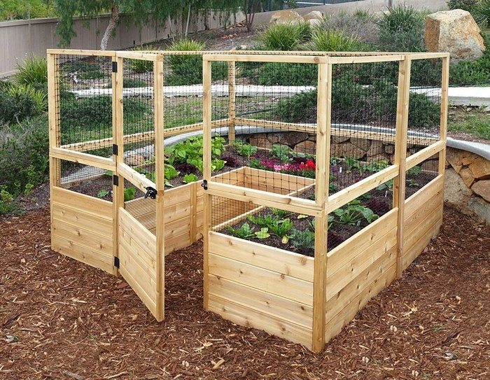 Build a raised enclosed garden bed DIY projects for everyone