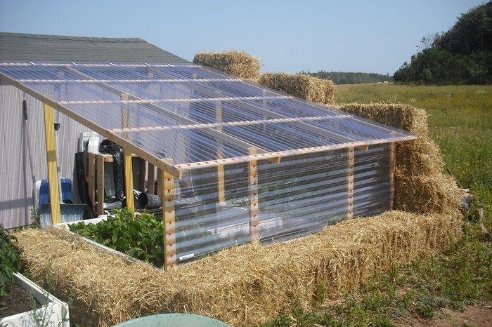 Build a straw bale greenhouse!