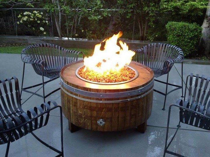 Turn A Wine Barrel Into Fire Pit Table DIY Projects