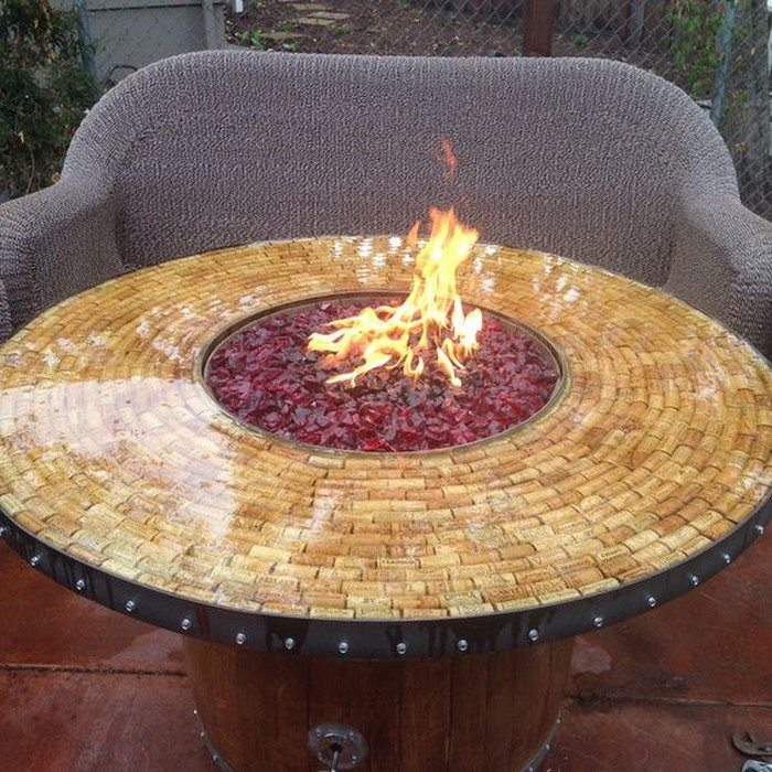 Wine Barrel Fire Pit Table - Turn A Wine Barrel Into A Fire Pit Table! DIY Projects For Everyone!