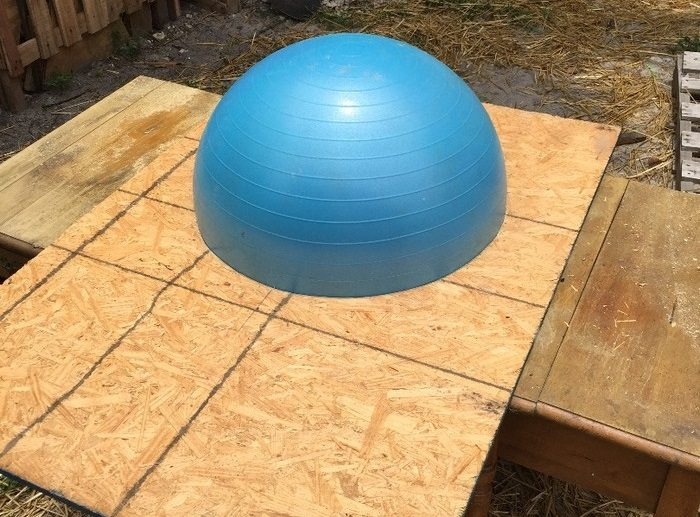 Wood Fired Pizza Oven Made With An Exercise Ball Diy