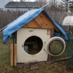 Old Washing Machine Chicken Coop