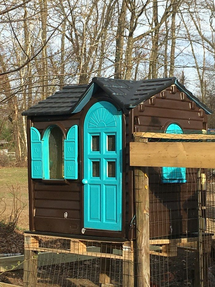 Old Playhouse Chicken Coop