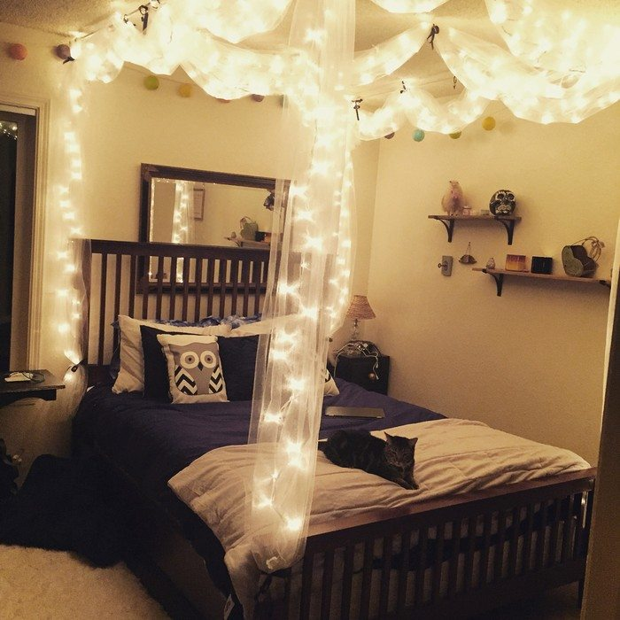 Make a magical bed canopy with lights | DIY projects for ...