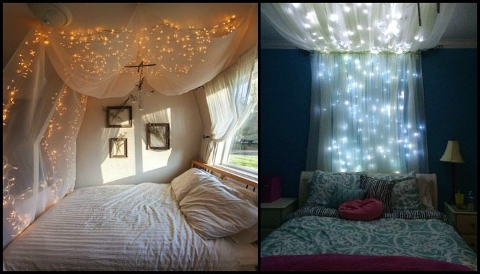 make a magical bed canopy with lights diy projects for
