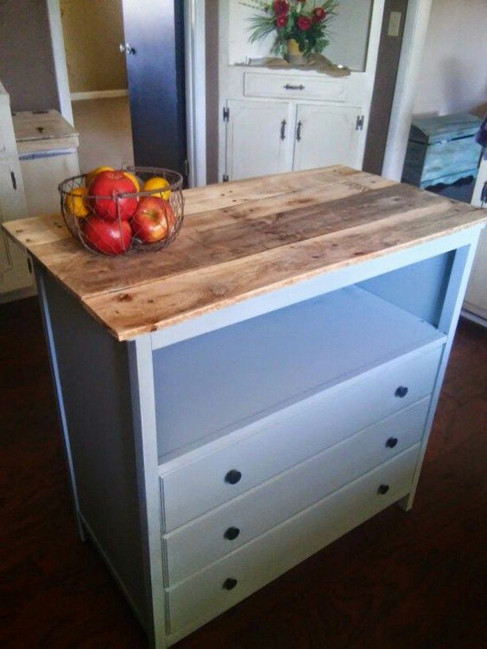 Kitchen Island Diy Projects: From A Changing Table To A Kitchen Island!