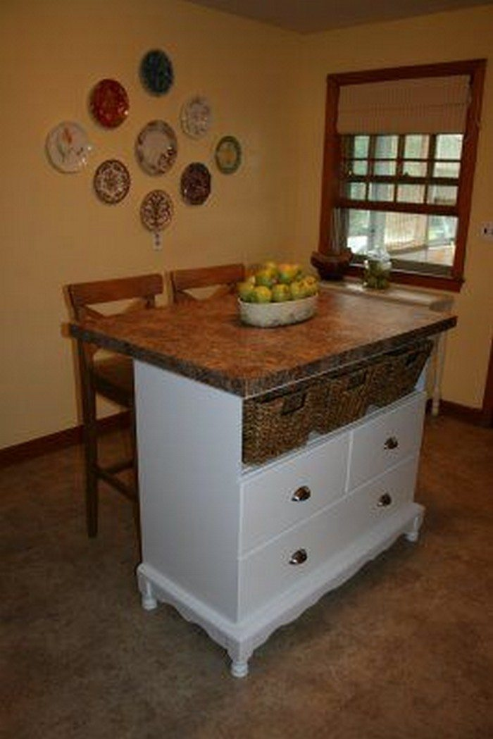 dresser kitchen island from a changing table to a kitchen island diy projects 3470