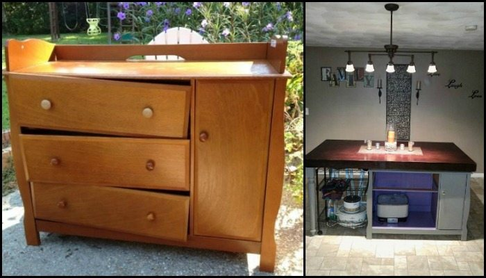 From a changing table to a kitchen island!