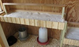 Chicken roost with poop board for easy clean up!