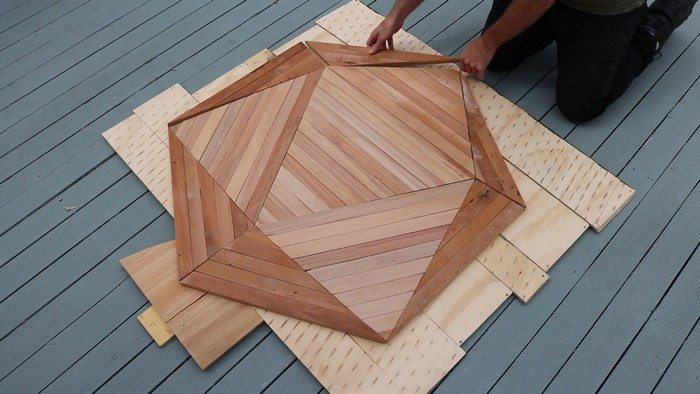 DIY Icosahedron Table