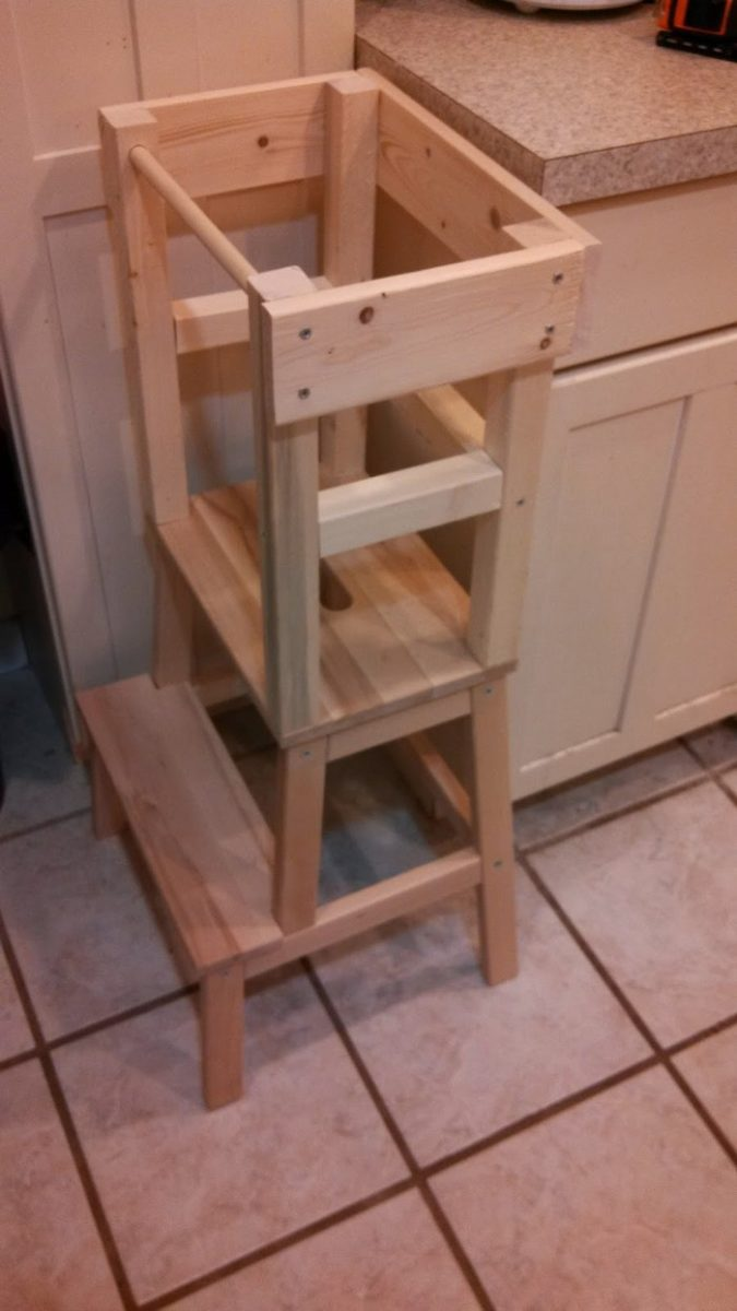 Build A Learning Tower For The Kids Diy Projects For