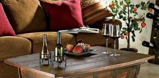 DIY Wine Barrel Coffee Table