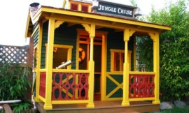 Make the kids happy by building a Disneyland playhouse!