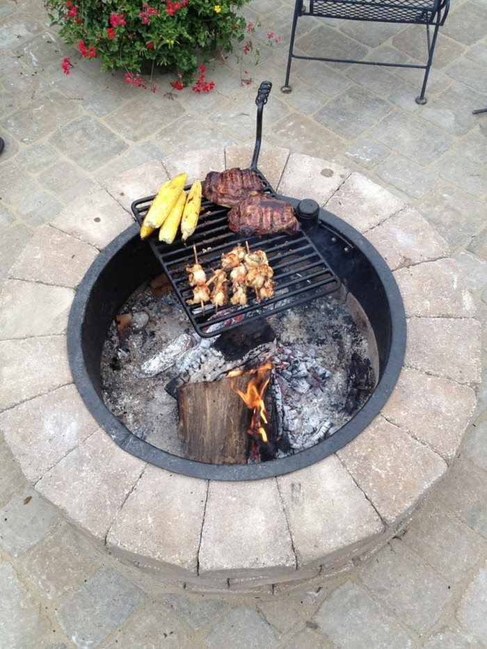 Fire Pit With Cooking Grill Diy Projects For Everyone