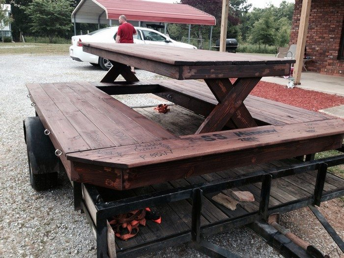 Floating picnic table diy projects for everyone floating picnic table watchthetrailerfo