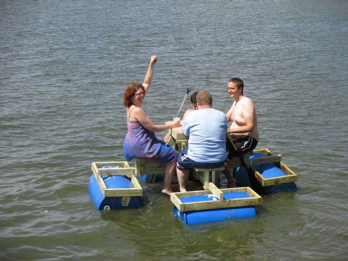 Floating Picnic Table DIY Projects For Everyone - Picnic table raft