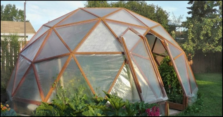 Build a geodesic greenhouse!