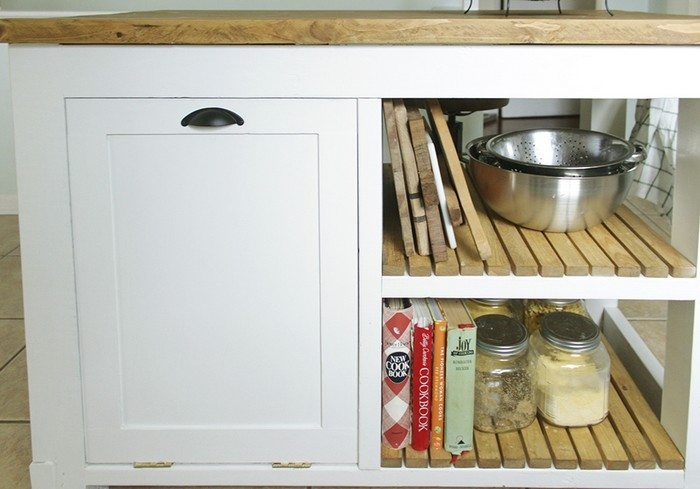 build a kitchen island with trash storage diy projects kitchen island with trash bin kitchen design photos