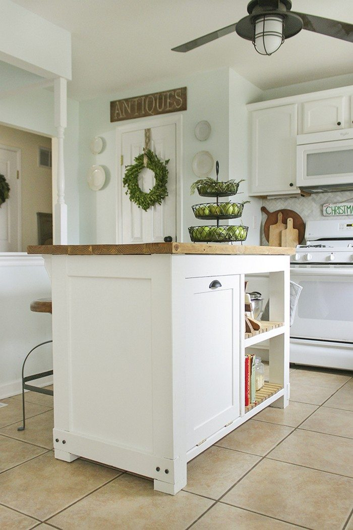 Build A Kitchen Island With Trash Storage