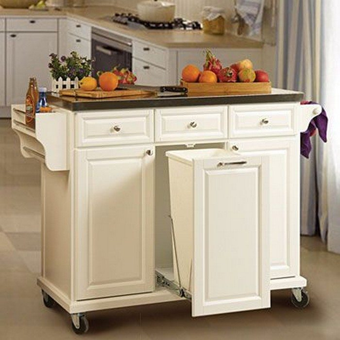 Kitchen Island With Trash Bin Trash Bin Kitchen Island With